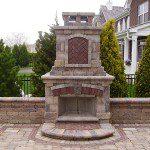 brick paver fire place northbrook