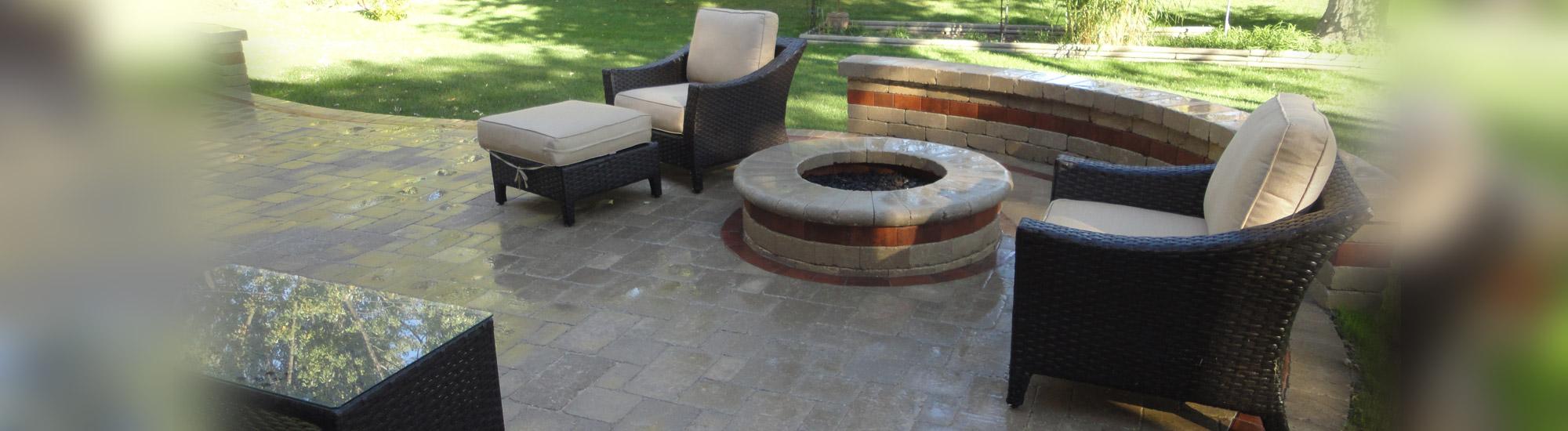 brick paver fire pit park ridge