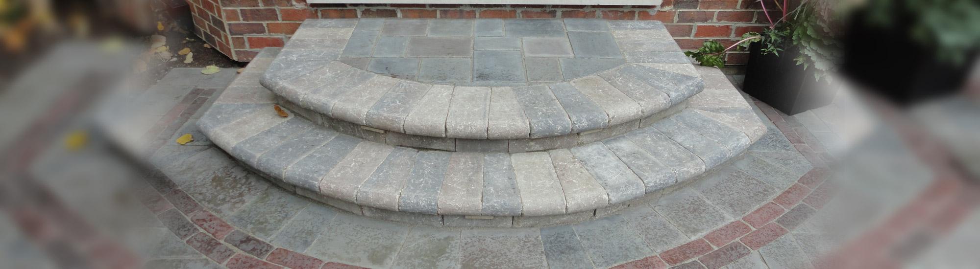 brick paver steps northbrook