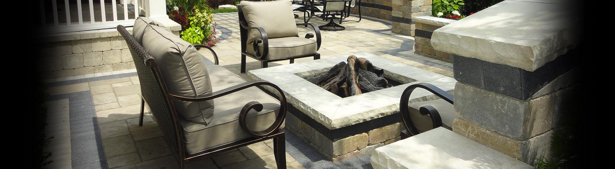 brick paver fire pit glenview