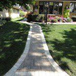 brick paver front entrance park ridge