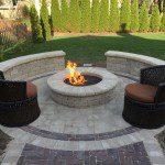 brick paver fire pit palatine