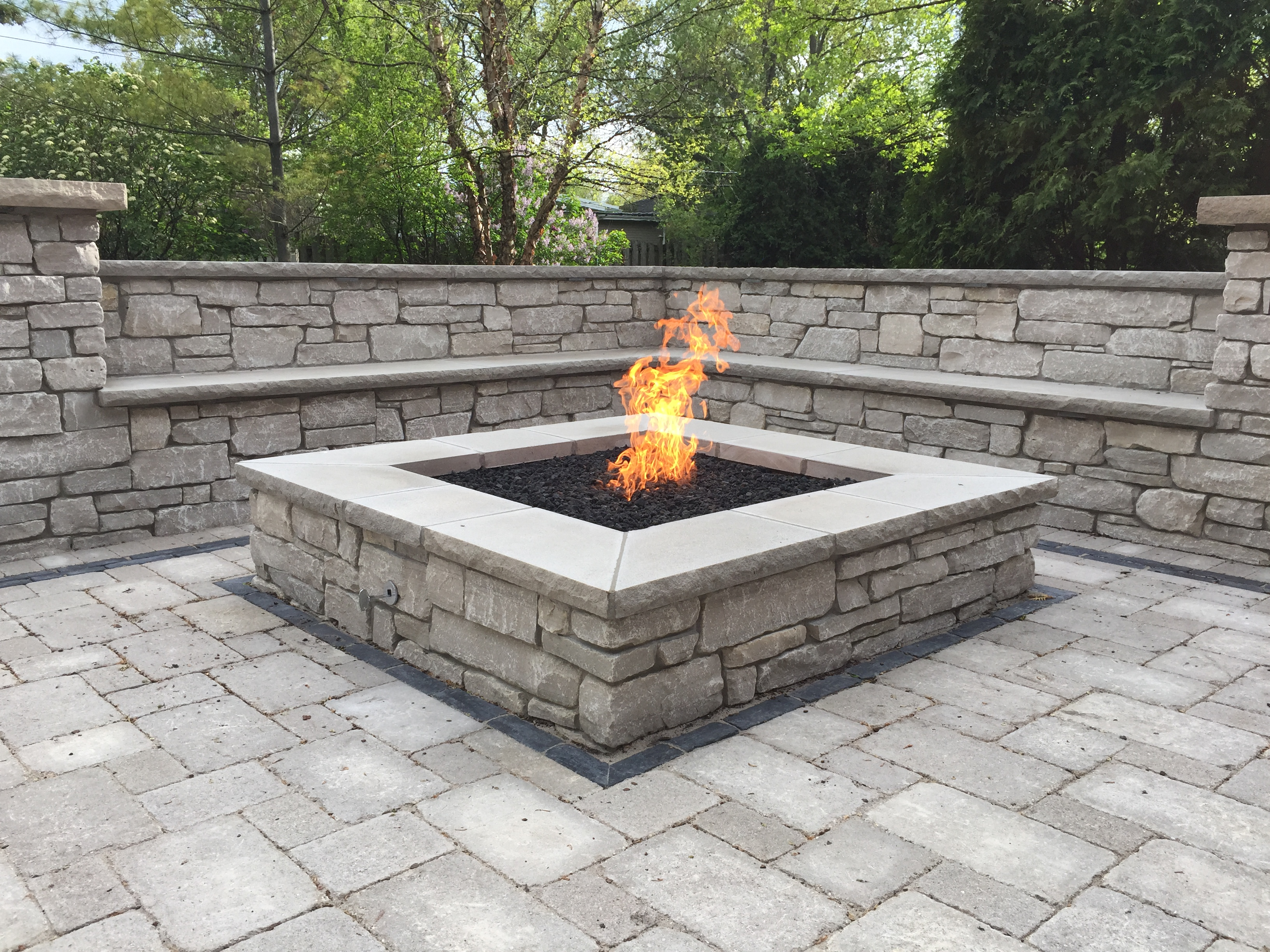 How To Build A Square Gas Fire Pit